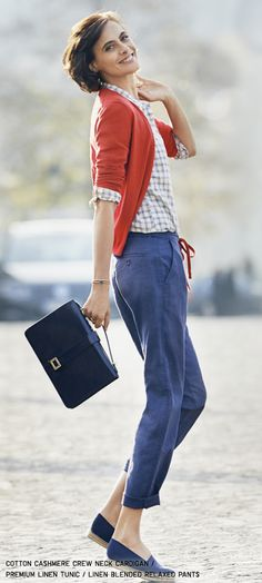 Uniqlo Ines De La Fressange collection...I'll take the outfit but I LOVE the bag and I cannot find it