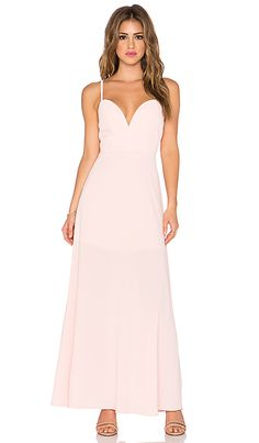 NBD x Naven Twins Ready Set Go Maxi Dress in Blush Pink | REVOLVE
