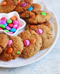M&M cookies recipe with wheat flour