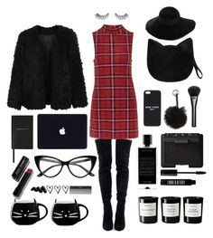"""""""Love Lives Here."""" by bombaysapphire ❤ liked on Polyvore featuring Topshop, LE3NO, Forever 21, Napoleon Perdis, Bobbi Brown Cosmetics, Smythson, Nila Anthony, Eugenia Kim, Ankit and Agonist"""