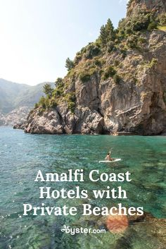 the best Amalfi Coast stays with private beaches across the board, no matter what your budget. Cabo San Lucas, Amalfi Coast Hotels, Italy Coast, Almafi Coast, Places To Travel, Places To Visit, Pompeii Italy, Beach Trip, Beach Travel
