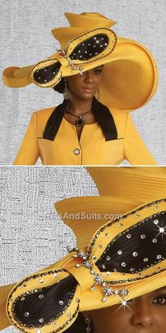 If you're looking for womens church hats or couture hats, this is the place to be! Our elegant ladies church hats have truly original details and design making each one unique. Church Suits And Hats, Church Hats, Funky Hats, Crazy Hats, Hats For Women, Ladies Hats, Derby Attire, Queen Hat, Sunday Outfits