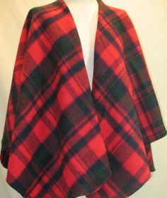 100% PENDELTON WOOL Poncho Blanket Wrap Shawl Jacket ~ by JunkSisters911 on Etsy