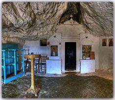 Agios Antonios Church in Veni Greece, Cabin, House Styles, City, Home Decor, Byzantine, Greece Country, Decoration Home, Room Decor
