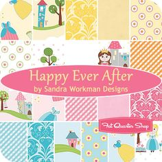 """Happy Ever After 5"""" Stacker  Sandra Workman Designs for Riley Blake Designs  - a quilt fit for a princess"""