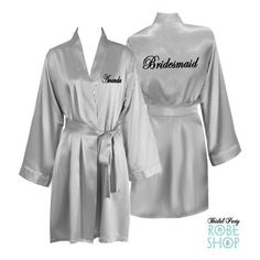 Bridesmaid robes with names