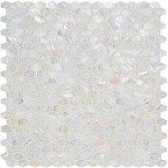 White Pearl Lozenge Shell Mosaic