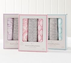 Morocco Swaddle Blankets Set of 3 | Pottery Barn Kids
