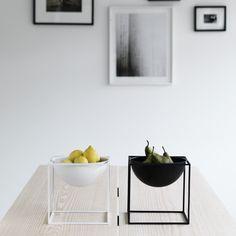 by Lassen - Kubus Bowl, groß, weiß, klein, schwarz