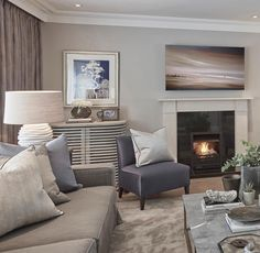 Rustic chic living room at our Esher project from a couple of years ago