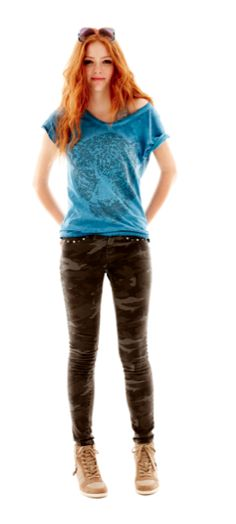 Decree leopard embellished tshirt and camp skinny pants