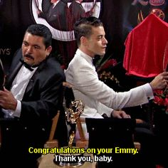Rami Malek, Guillermo Back to Back at the 2016 Emmys