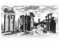 Etienne Du Perac, 1575, Foro di Nerva http://www.info.roma.it/foto/roma_sparita/grandi/139.jpg