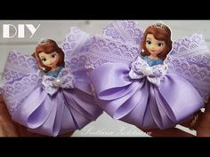 Ribbon bows with Princess Disney Hair Bows, Disney Headbands, Princess Hair Bows, Disney Princess, Baby Hair Clips, Disney Designs, Handmade Hair Bows, Princess Hairstyles, Ribbon Sculpture