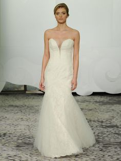 Rivini strapless plunge neckline wedding dress with layered skirt from Spring 2016