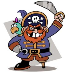 Need to print these out. Pirate coloring pages are favorites with kids of all ages - pirate crafts are great fun! Pirates coloring pages, printables and clip art are great. Pirate Day, Pirate Theme, Pirate Birthday, 5th Birthday, Robinson Crusoe, Images Pirates, Pirate Clip Art, Pirate Coloring Pages, Pirate Activities