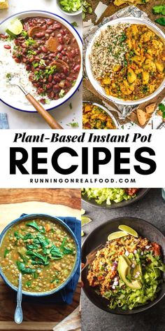 The 25 best plant-based Instant Pot recipes! From soups to stew tacos desserts and whole plant foods like quinoa farro broccoli and squash learn all about using your Instnat Pot for vegan cooking. Plant Based Whole Foods, Plant Based Eating, Plant Based Recipes, Plant Based Meals, Instant Pot Pasta Recipe, Instant Pot Dinner Recipes, Vegetarian Recipes Instant Pot, Whole Food Recipes, Cooking Recipes