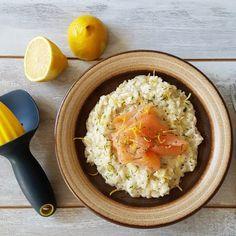 Risotto met citroen en gerookte zalm. Super romig en toch fris dankzij de citroen, echt een heerlijk recept!