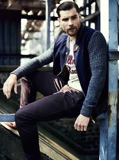 ♂ fashionable men gentleman style urban casual look River Island Holloway Road Autumn/Winter 2013