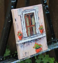 T I T L E: Dreaming of Tuscany ll by Lisa Elley  Y E A R: 2015  I N S P I R E D*B Y: I loved travelling around Italy, and taking in the architecture, culture, and history. So many nooks and crannies to see, everything is different, textured and quite beautiful!   S I Z E: 8 X 10 X .75 Inches. This is a gallery wrapped canvas.  P A I N T I N G* S H I P S: Unframed, stretched, wired, ready to hang with a hook.  Certificate of Authenticity Included.  Painting is signed on front and signed & dated on the back.  F R E E   S H I P P I N G In the contiguous USA. International buyers please email info@lisaelley.com for an accurate shipping quote.  *Artist retains the rights to digital and print reproduction.