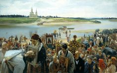 Oil on canvas;    101.5 x 165 cm.  Illarion Mikhailovich Pryanishnikov was a Russian painter, one of the founders of the Peredvizhniki artistic cooperative.  Illarion Pryanishnikov was born in the village of Timashovo (today's Kaluga Oblast) in a family of merchants. From 1856 to 1866 he studied in the Moscow School of Painting, Sculpture and Architecture in the classes of Evgraf Sorokin and Sergey Zaryanko.  His picture Jokers. Gostiny Dvor in Moscow, painted in the last year of education…