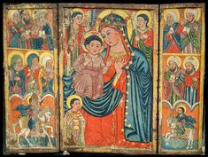 An 15th century Ethiopian icon of the infant Christ child sitting on his mother's knee was discovered after it was cleaned by a British charity.