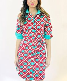 Love this Red Elephant Madeline Dress on #zulily! #zulilyfinds