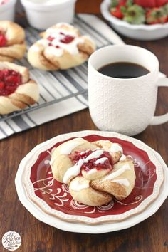 Strawberry Filled Cinnamon Twist Pastries from @akitchenaddict