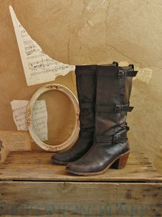 Vintage Rare Frye Rustic Romance Boots Size 9 by VeryVintageStore, $102.00