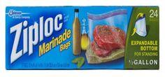 Ziploc Marinade Bags ,24-Count(Pack of 3) Ziploc,http://www.amazon.com/dp/B003U6DIWS/ref=cm_sw_r_pi_dp_yOpatb0G4HYN6S0N