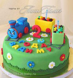 Как сделать детский торт паровозик в домашних условиях