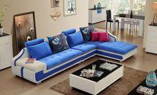2016 Personalización de tela de colores muebles de sala sofá