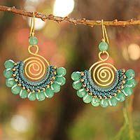 crochet earrings  by Chuleekorn, from Thailand - Novica website