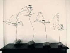 wire birds in flight