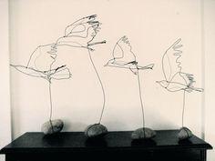 wire birds in flight