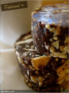 Portuguese Chocolate Salami.  I have to make this!  Haven't had it since I was in Sao Miguel!
