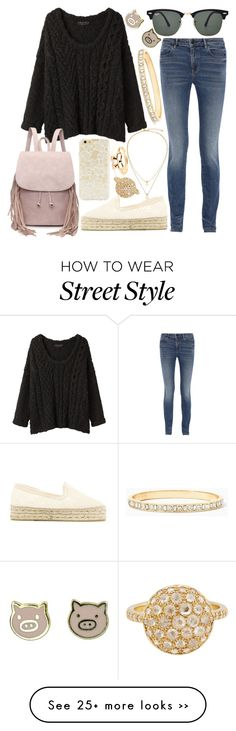 """""""Street Style"""" by pf-marcon on Polyvore featuring rag & bone, Alexander Wang, Manebí, Ray-Ban, Forever 21, Roberto Marroni and Kate Spade"""