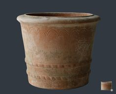 Decorative terracotta pot for plants and topiary
