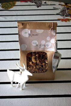 Homemade granola gifts