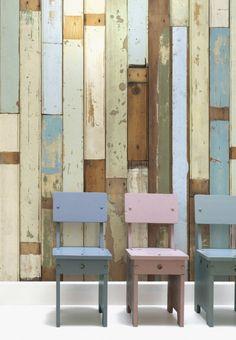 Huis & Grietje   Sloophoutbehang en meubelen van steigerhout voor de hippe stoere kinderkamers.