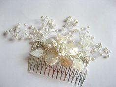 Pieptan pentru mireasa cu model de frunze sidef 22606 – Cadouri HandMade Pearl Earrings, Model, Jewelry, Fashion, Bead, Moda, Pearl Studs, Jewlery, Schmuck