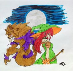 Witch and werewolf are a cute couple, aren't they?