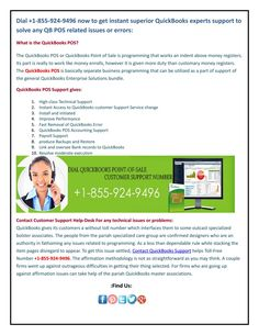 Quickbooks pos support help-line Dial +1-855-924-9496 Now