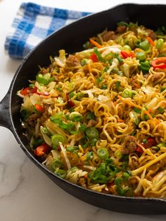 Egg Roll Ramen Skillet The Effective Pictures We Offer You About asian recipes copycat A quality picture can tell you many things. You can find the most beautiful pictures that can be presented to you Ramen Recipes, Pork Recipes, Asian Recipes, Dinner Recipes, Cooking Recipes, Healthy Recipes, Ethnic Recipes, Dinner Entrees, Gourmet