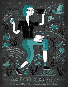Women in Science - Rachel Carson Poster on www.amightygirl.com
