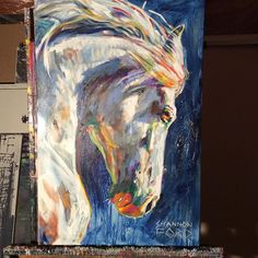 FV Silver Sage of the #fairviewarabianstud in #okanagafalls BC inspired by the Beautiful #cmkarabian bred by Dr David Ward. Silver Sage lived here on our ranch while I got to know him and I have been painting him ever since. This one will be going to an #artgallery real soon, #arabianhorse #shannonford #art #horse #horses #equineart #equineartist #painting #canadianart #beautiful #power