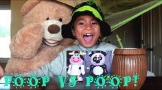 Barnyard Pooper VS. Zoo Pooper Candy Poop War!
