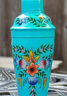 hand painted cocktail shaker www.shopwithloveboutique.com