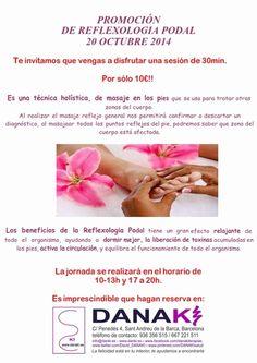 Promoción de Reflexo Podal http://www.danaki.es/promocion-de-reflexologia-podal/