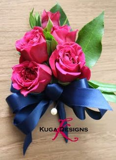 navy blue + raspberry